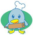 Chef Bird vector image