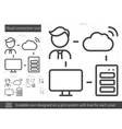 Cloud connection line icon vector image vector image