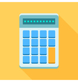 Colorful calculator icon in modern flat style with vector image vector image