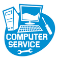 computer service label vector image vector image