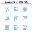 corona virus disease 9 blue icon pack suck vector image vector image