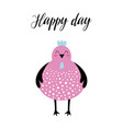 cute card with chicken isolated on white vector image vector image
