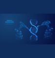 digital image genetic engineering concept vector image vector image
