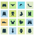 dress icons set with sweatshirt glove knickers vector image vector image