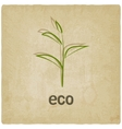 eco old background vector image vector image