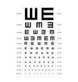 eye test chart placard banner card vector image vector image