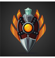 fantasy shield magic weapon with crystal game vector image vector image