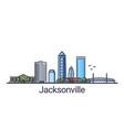flat line jacksonville banner vector image