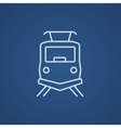 Front view of train line icon vector image vector image