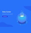 futuristic data center concept isometric vector image vector image