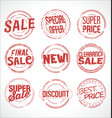 grunge rubber stamp super sale collection vector image