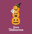 halloween pumpkins invitation vector image