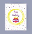 happy birthday princess color vector image
