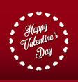 happy valentines day lettering on red background vector image vector image