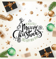 holiday greeting card merry christmas and happy vector image vector image