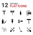 hose icons vector image vector image