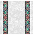 lace border stripe in ornate floral background vector image