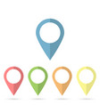 map pin flat design style modern icon marker sign vector image vector image