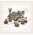 Mars rover sketch vector image vector image