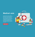 medicine first aid supplies banner vector image