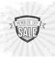 Memorial Day Sale Shield and Ribbon vector image vector image