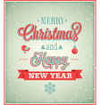 Merry Christmas typographic design