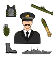Military man sketch for armed forces design vector image vector image