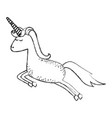 monochrome blurred silhouette of cartoon unicorn vector image vector image