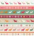Norwegian Christmas seamless pattern vector image vector image
