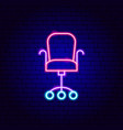 office chair neon sign vector image