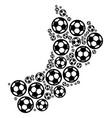 oman map composition of football balls vector image vector image