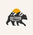 outdoor adventures mountains touristic logo vector image