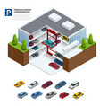 parking garage underground indoor car park urban vector image vector image