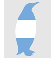 Penguin Argentina vector image vector image