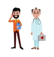People businessman and doctor different vector image