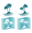 pictograms palms silhouettes vector image vector image