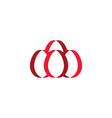 red easter eggs symbol logo element vector image vector image