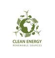 renewable energy icon vector image