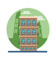 residential building isolated vector image