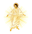 Resurrection of Jesus vector image vector image