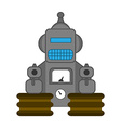 Retro style toy robot vector image