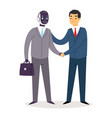 robot humanoid business people futuristic