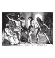 scourging of jesus vintage vector image