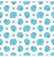 seamless pattern with blue cartoon elefants vector image vector image