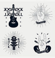 set of rock-n-roll prints for t-shirt vector image vector image