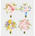 set wedding bouquets vector image vector image
