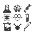 simple science icon set vector image vector image