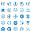 sound creative round icons music and audio vector image