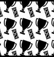 sport tennis trophy ball box seamless pattern vector image