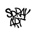 sprayed spray art font graffiti with overspray in vector image